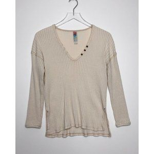 FREE PEOPLE FP Beach Waffle Knit Thermal Top